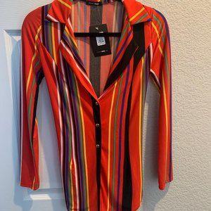 Fashion Nova Striped Two Piece Set